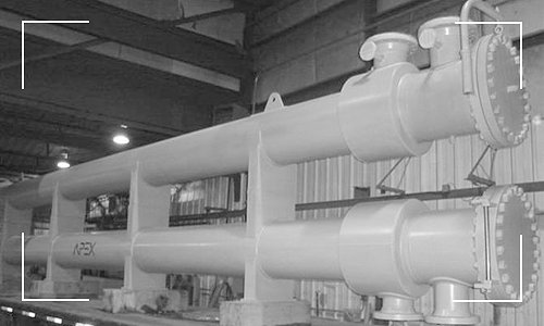 Stocked Heat Exchanger Built by Apex Engineered Products.