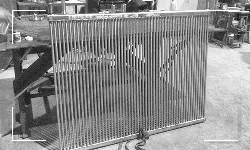 Horizontal Grid Coil Manufactured by Apex Engineered Products.