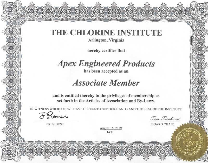 The Chlorine Institute Certification