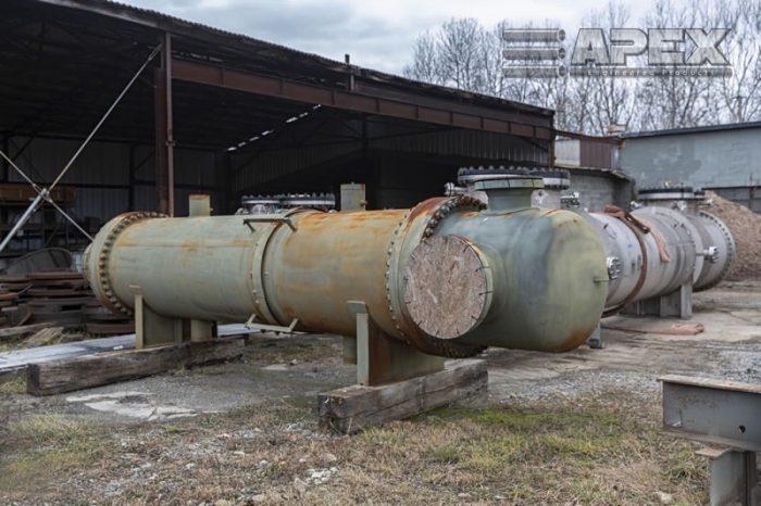 Decommissioned chemical process equipment at boneyard photo 4