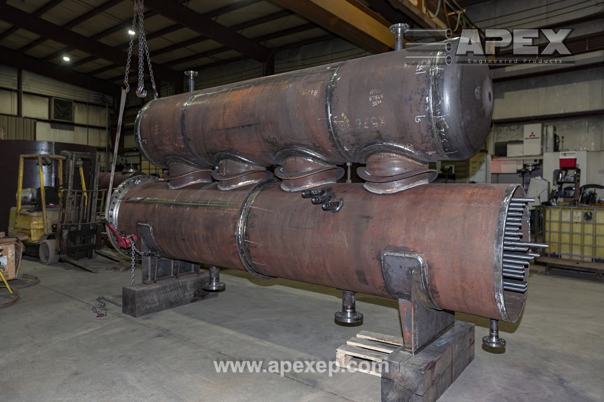 Chlorine Condenser for low-temperature applications fabricated by Apex Engineered Products.