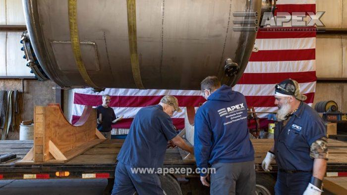 Titanium tank vessel loading at Apex