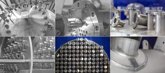 High Metal Fabrications (Zr,Ta,Ti,Nb) examples.