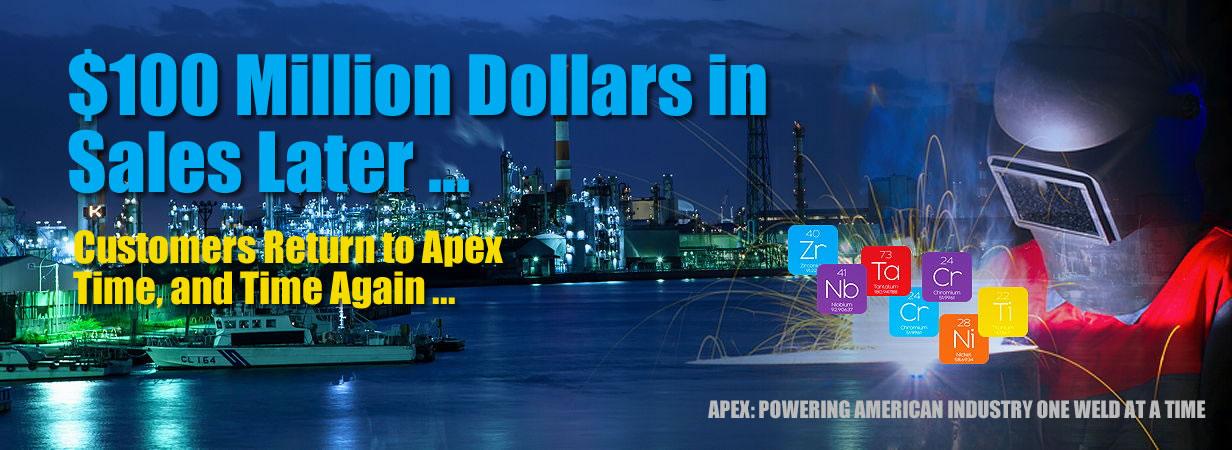 Apex Surpasses 100 Million Dollars in Sales