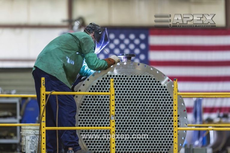 Intermediate column condenser welding photo 5