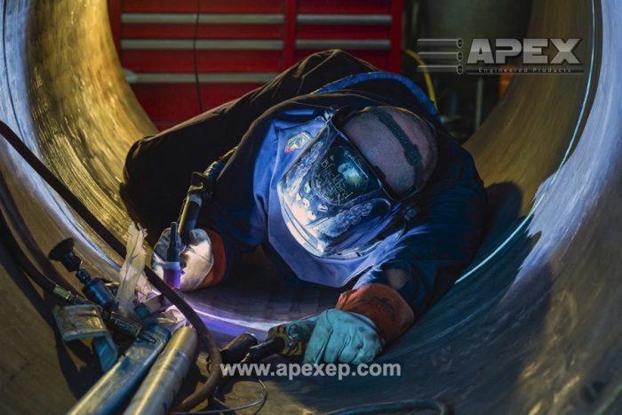 Welding of Turbine Gas Heater Photo 4