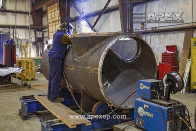 Welding of Turbine Gas Heater Photo 1
