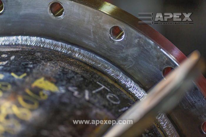 Apex Heat Exchanger Weld Closeup